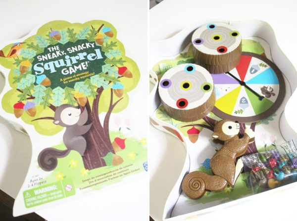 Sneaky snacky squirrel preschool board game for kids box and contents