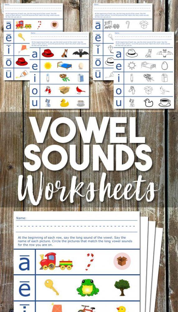 vowel sounds phonics worksheets for preschool and kindergarten