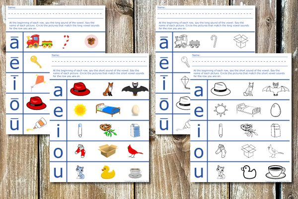 vowel sounds phonics worksheets