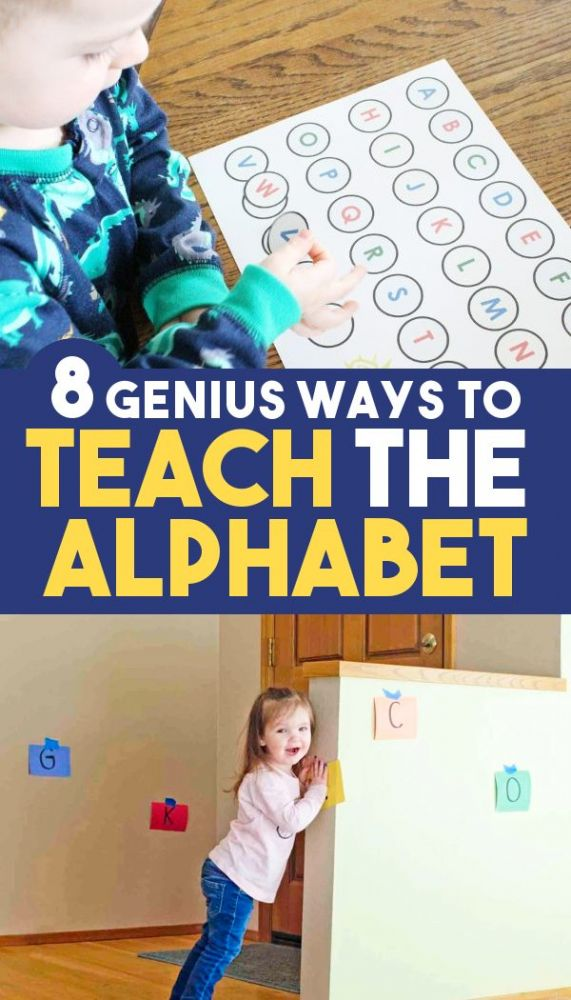 8 Easy ways to teach alphabet letters for preschool toddlers and kindergarten!