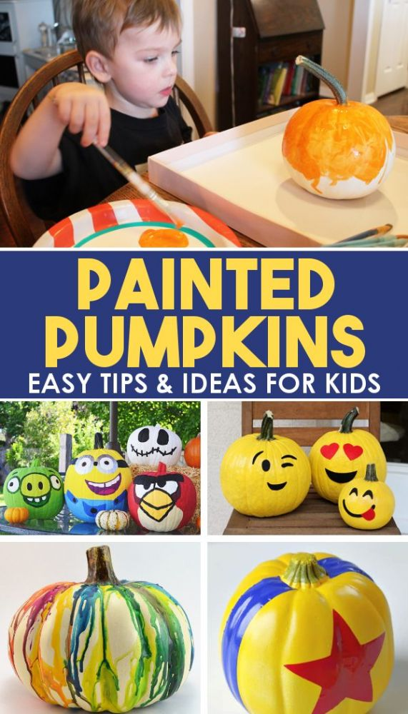 examples of painted pumpkins for kids