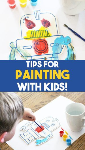 tips for painting with kids promo image