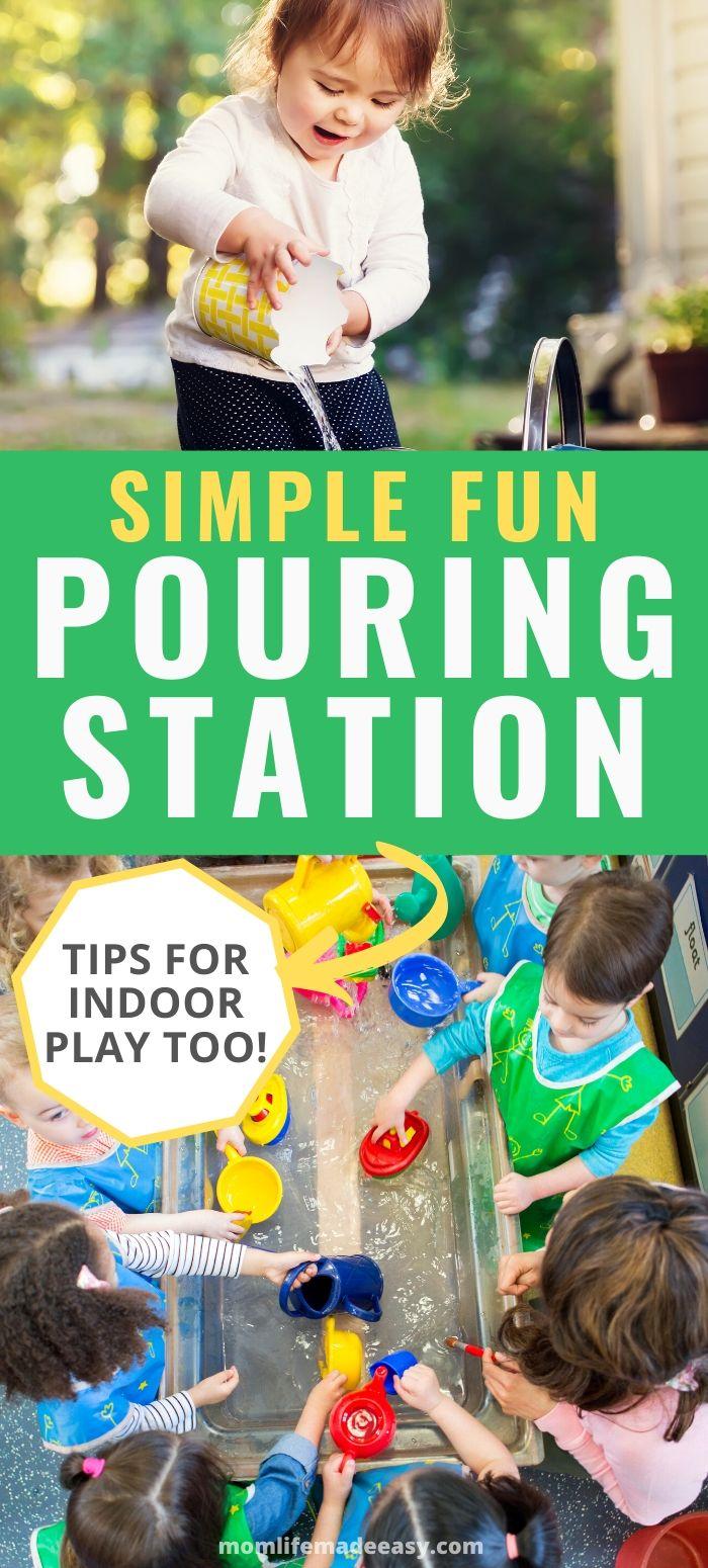 simple fun DIY pouring station promo