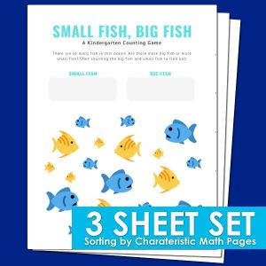 Sorting math worksheets for preschool and kindergarten