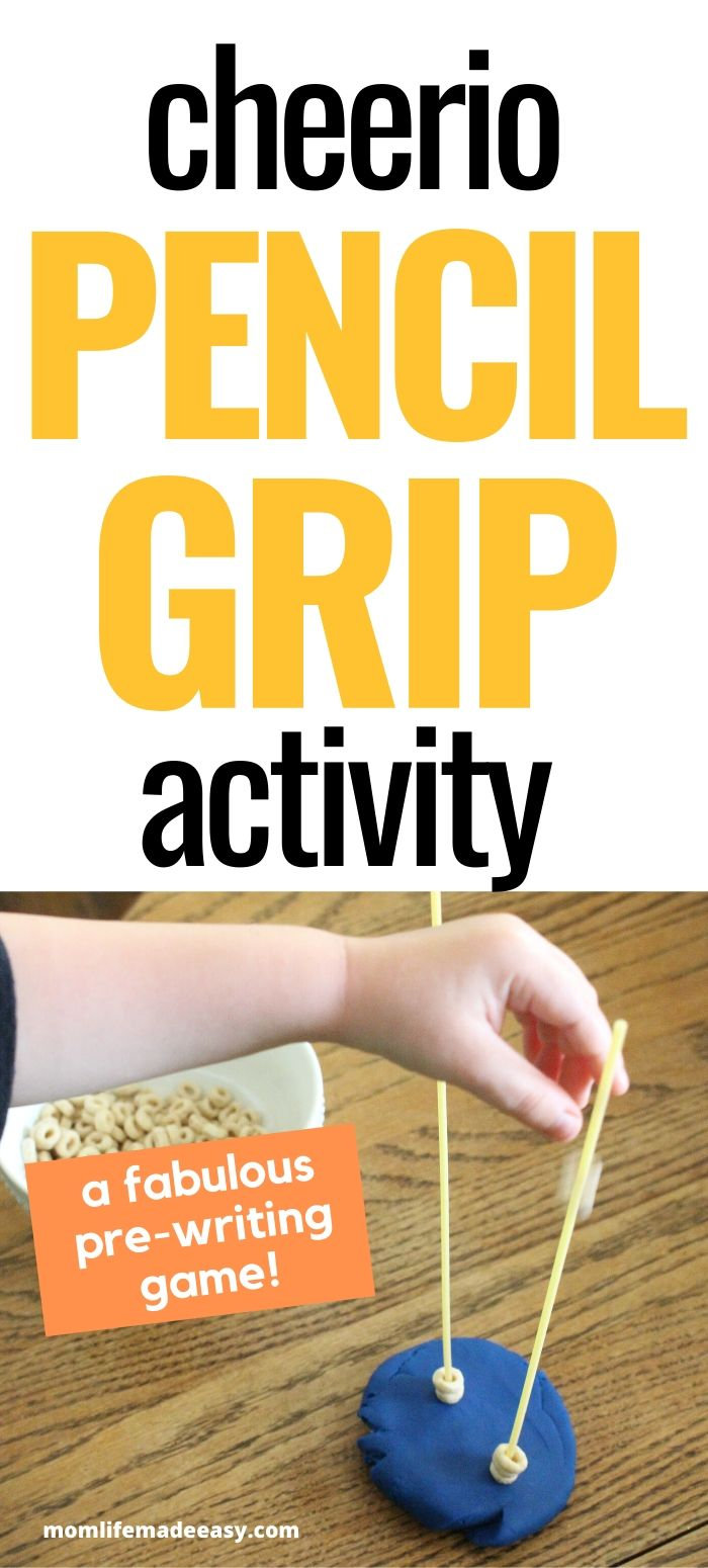 easy pencil grasp activity with cheerios
