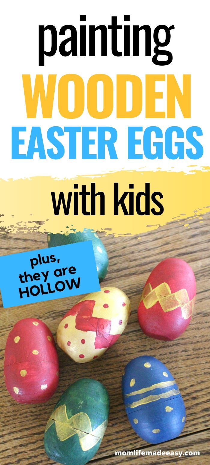 wooden easter egg painting activity promo