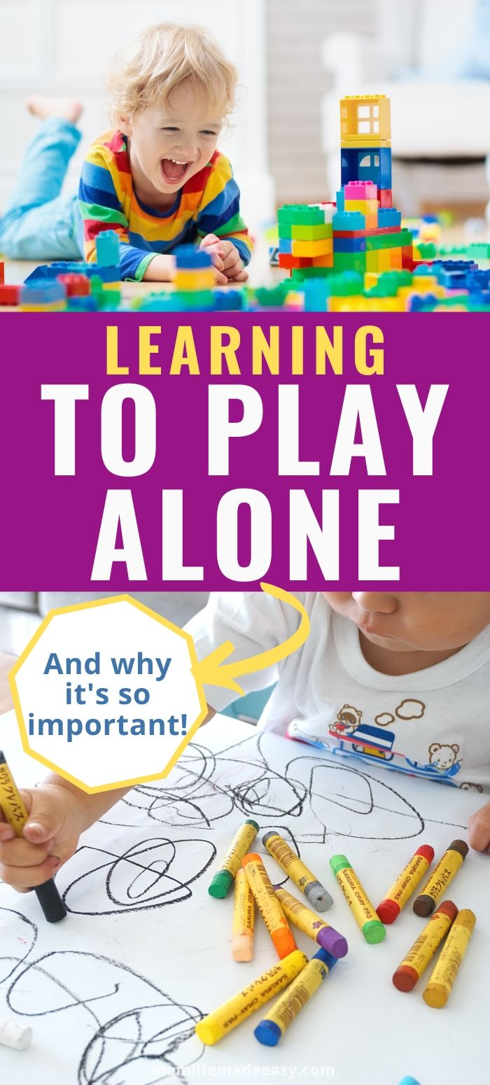 teaching child how to play alone promo image