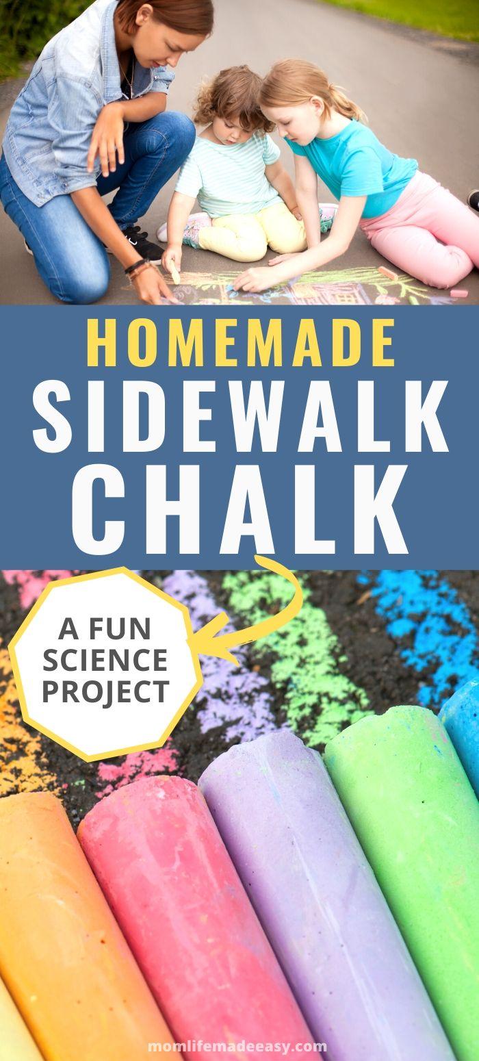 DIY homemade sidewalk chalk promo image