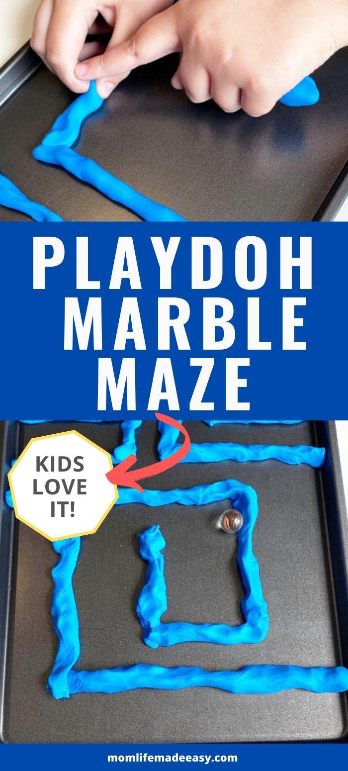 DIY playdough marble maze promo image