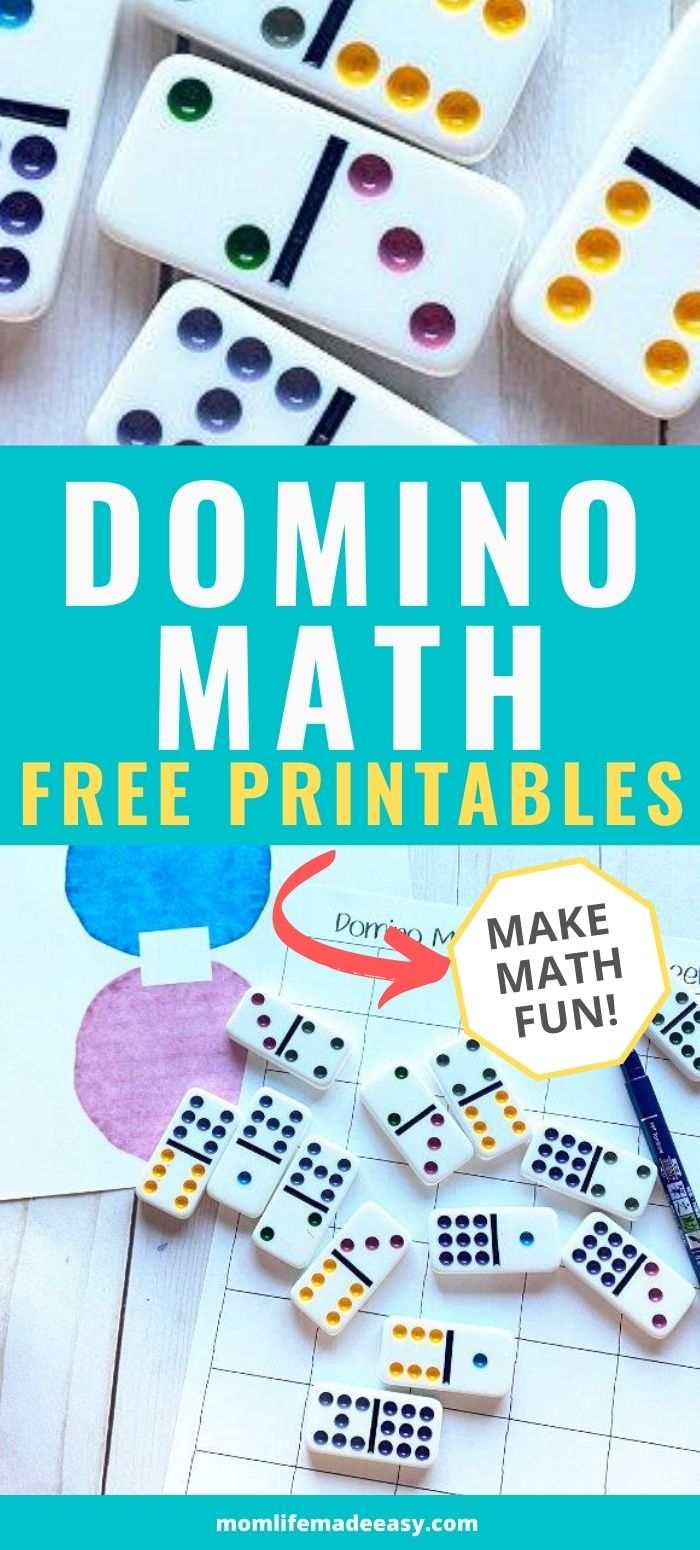 domino fun math worksheets printable promo image