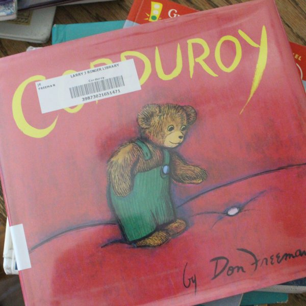 corduroy book front cover