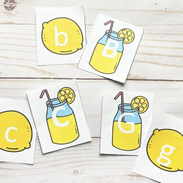 letter matching game pairs