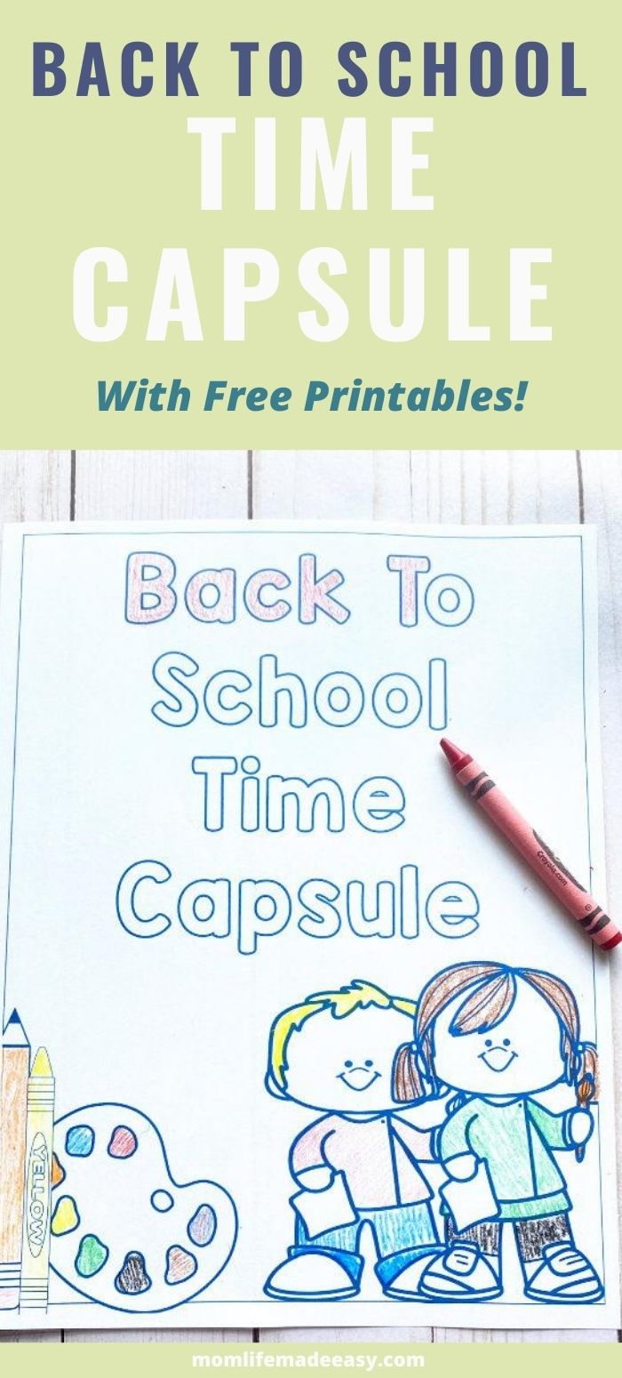 back to school activities time capsule promo image