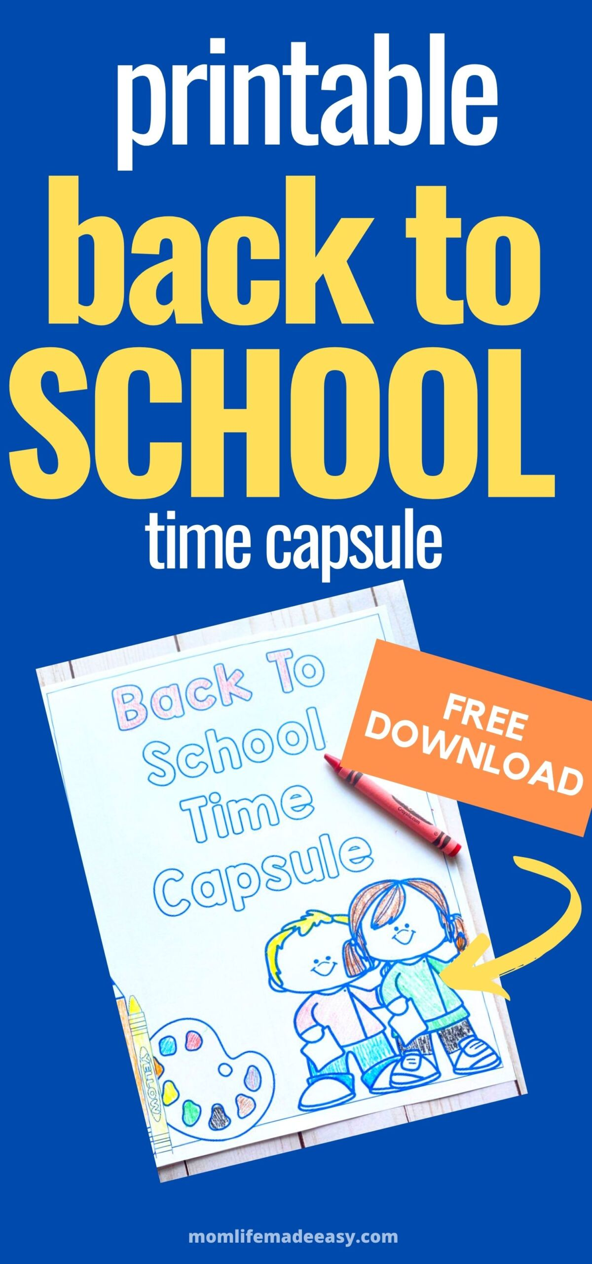 back to school printable time capsule activity promotional image