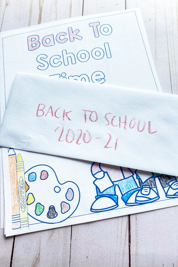 back to school activity printables out on a table
