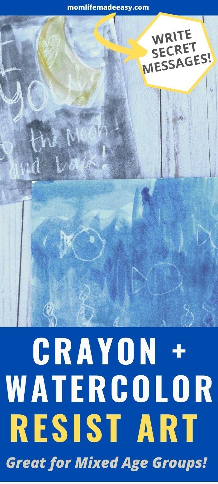 crayon and watercolor resist art promo image