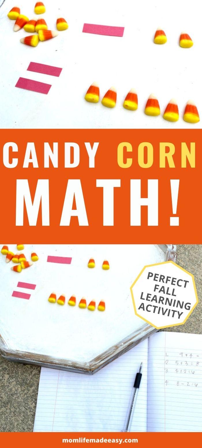 cute candy corn math promo image