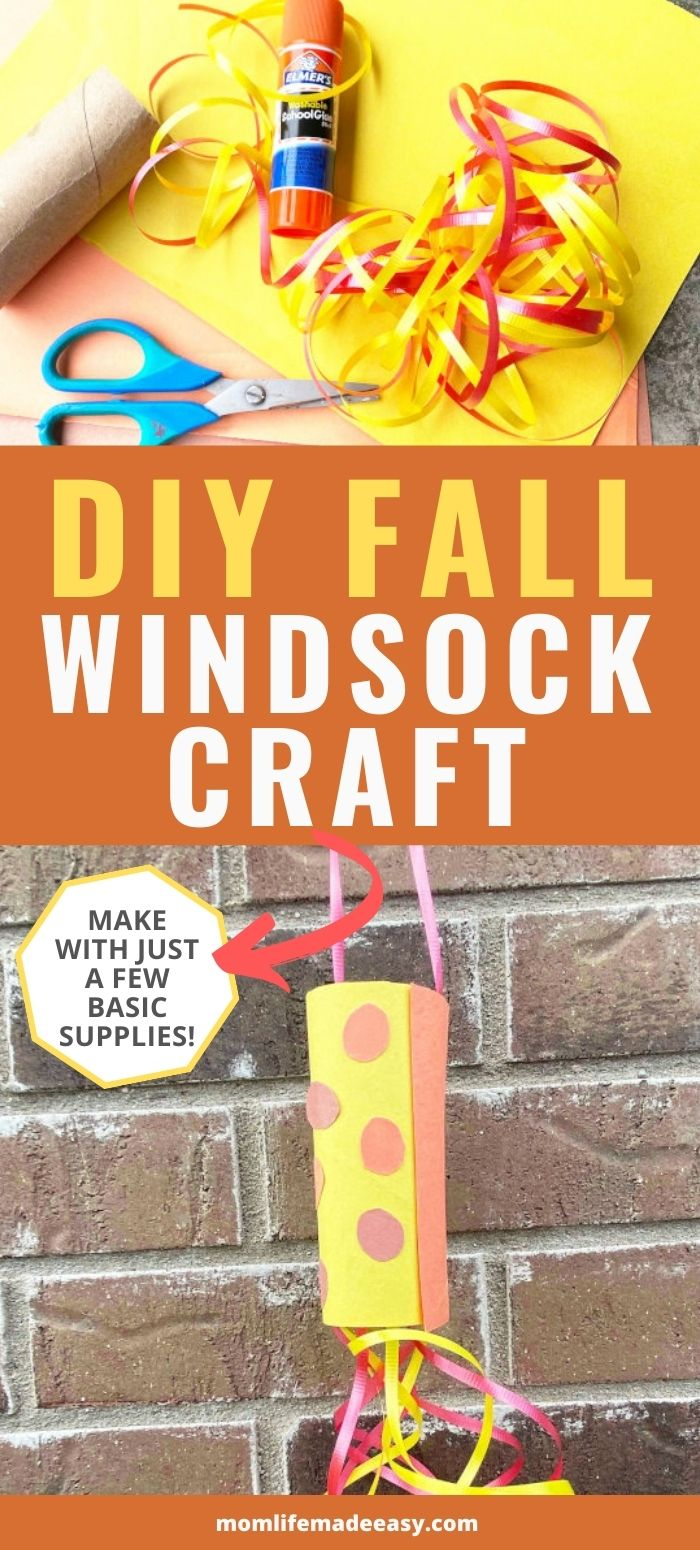 fall wind sock craft promo image