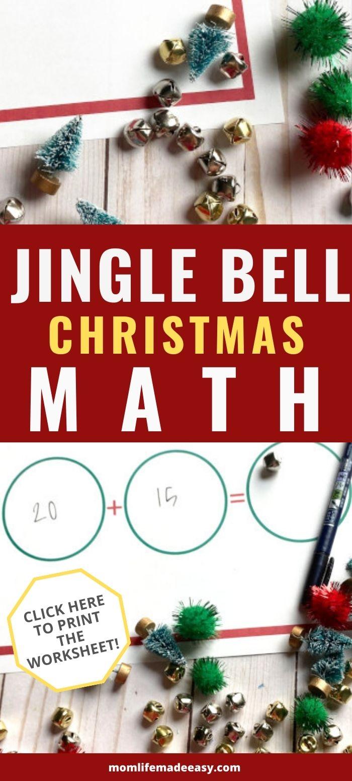 jingle bell Christmas math worksheets promo image