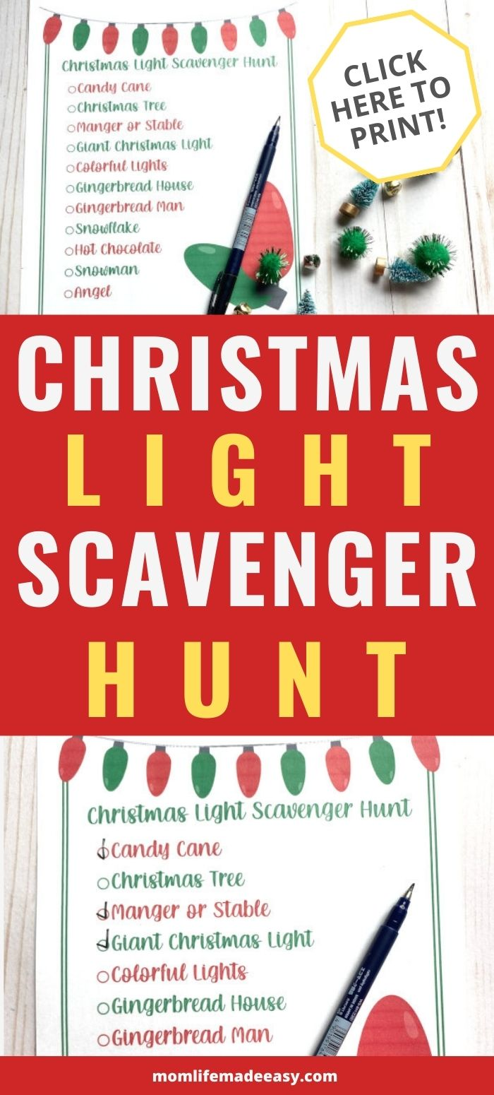 Christmas light scavenger hunt promo image