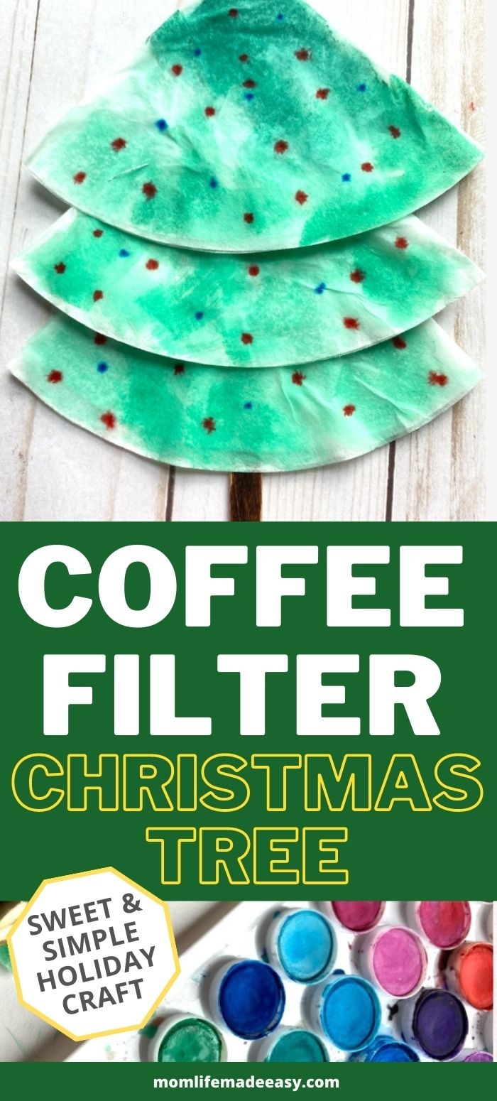 coffee filter paper Christmas tree promo image