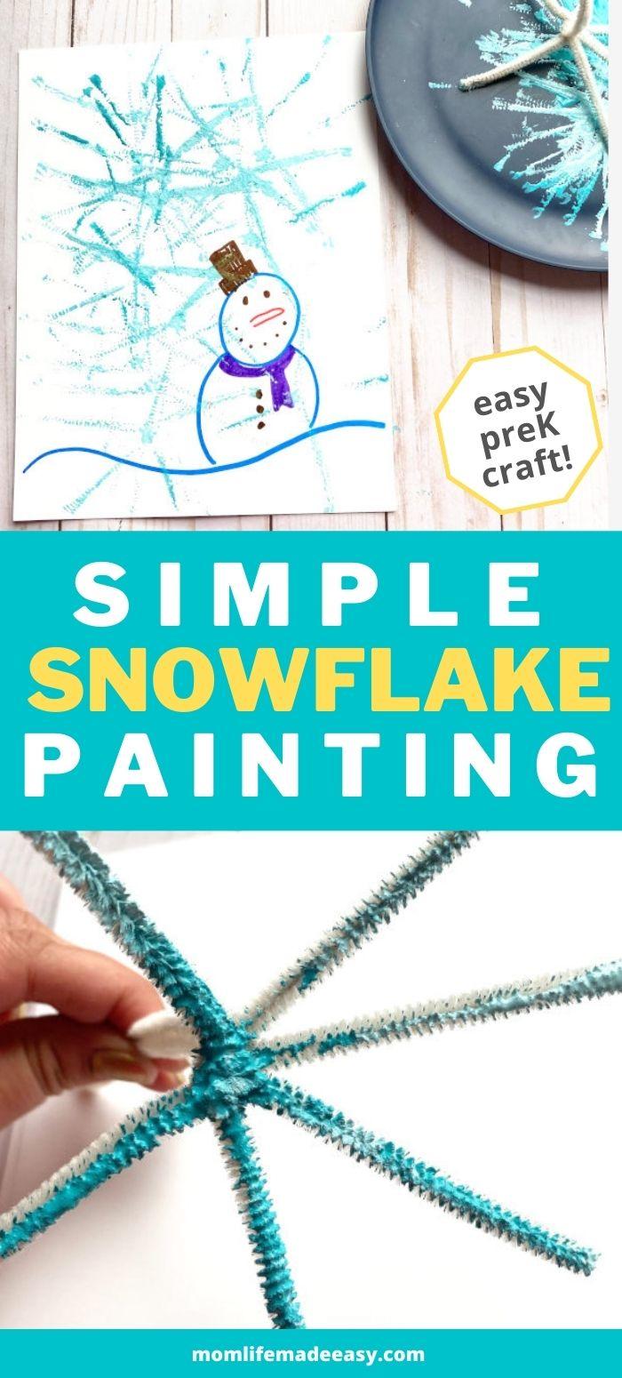 simple snowflake painting promo image