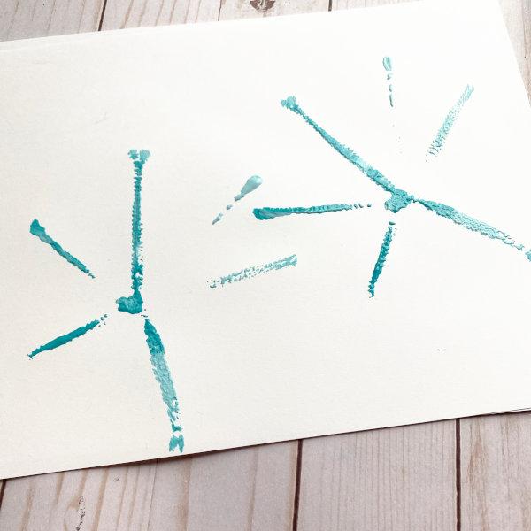 simple stamped snowflakes!