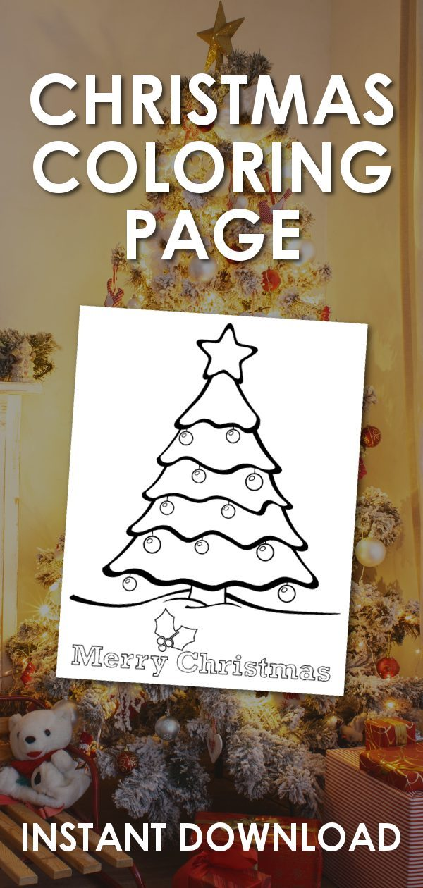 christmas tree coloring page promo image