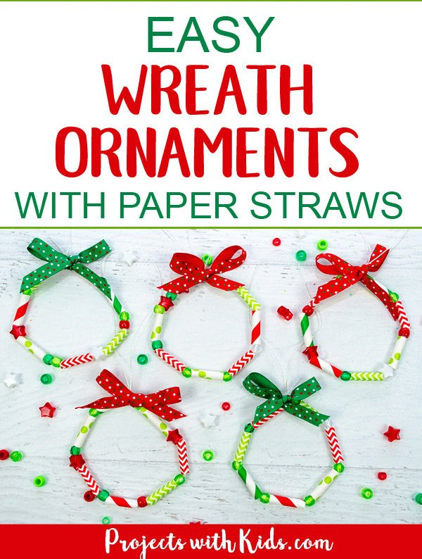 easy christmas crafts wreath ornaments promo image