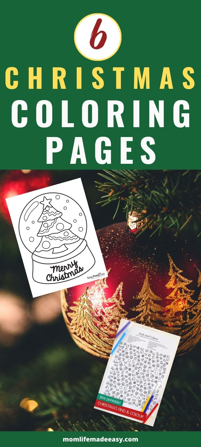 free Christmas coloring pages promo