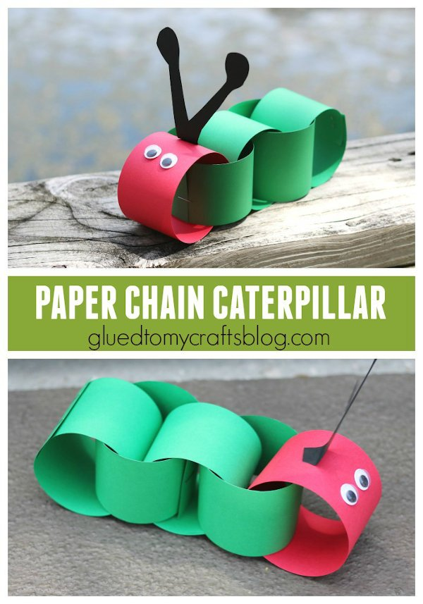 adorable paper chain caterpillar kids craft promotional image