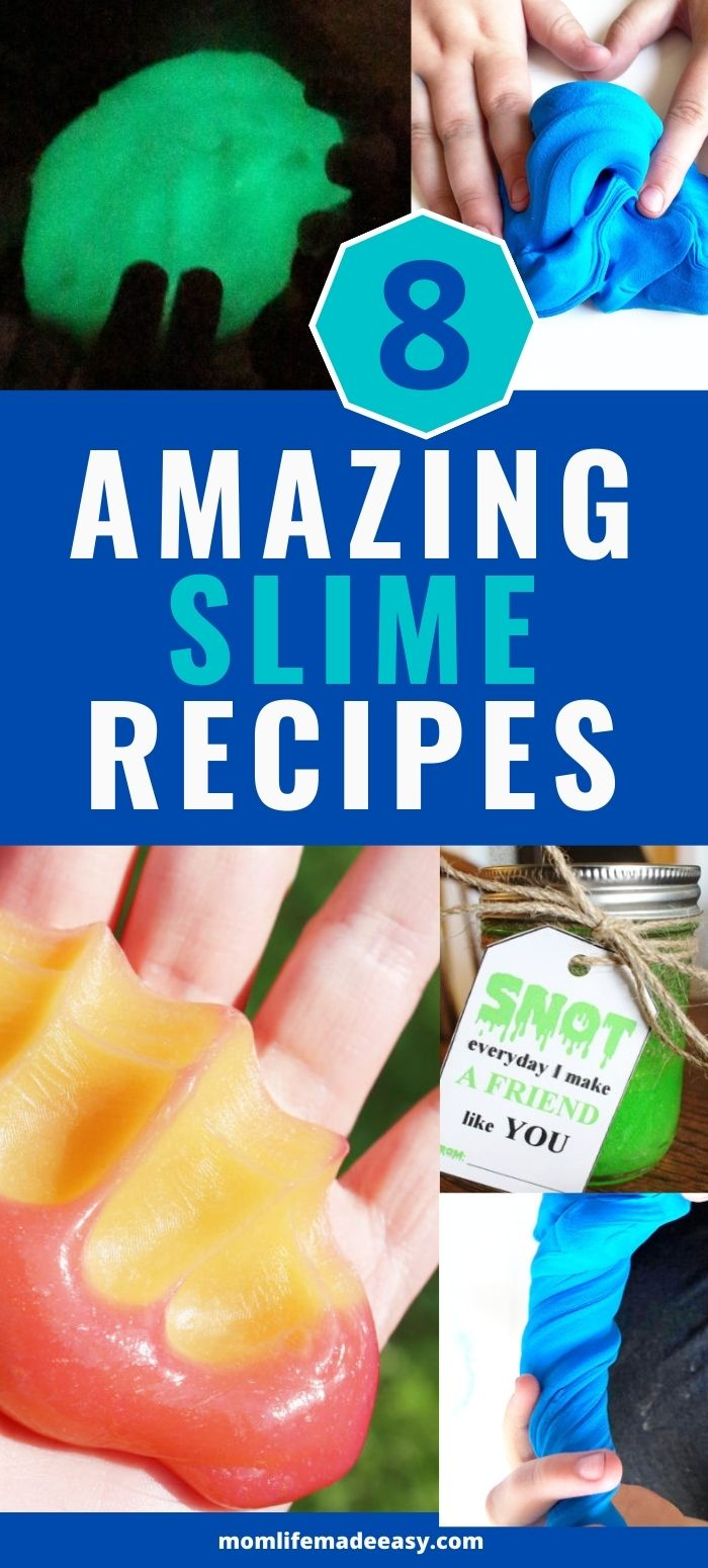 kid friendly DIY slime recipes promo image
