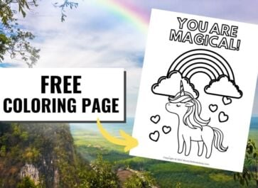 Magical Unicorn Promo Image Coloring Page