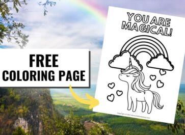 Magical Unicorn Promo Image Coloring Page