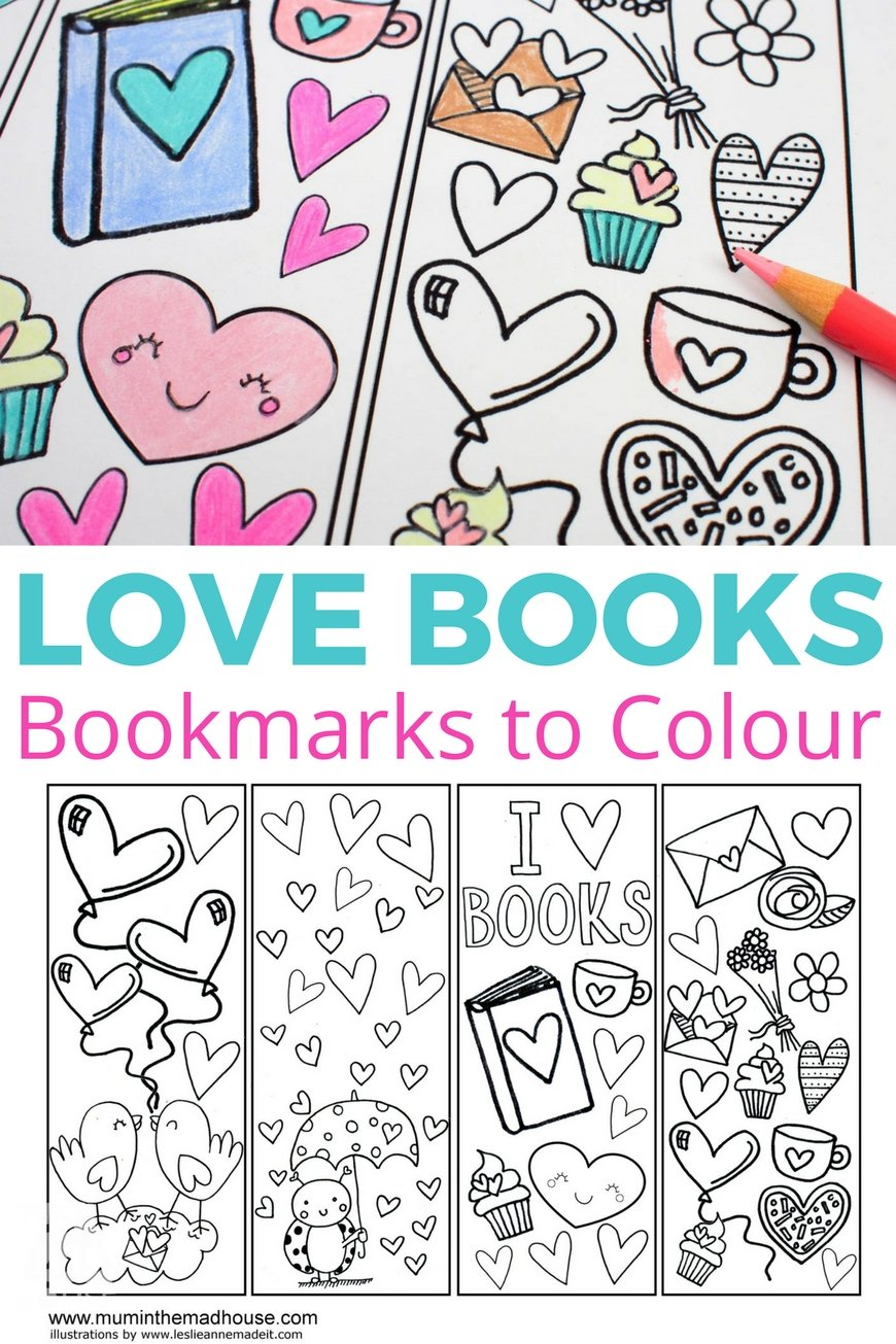 cute coloring bookmarks