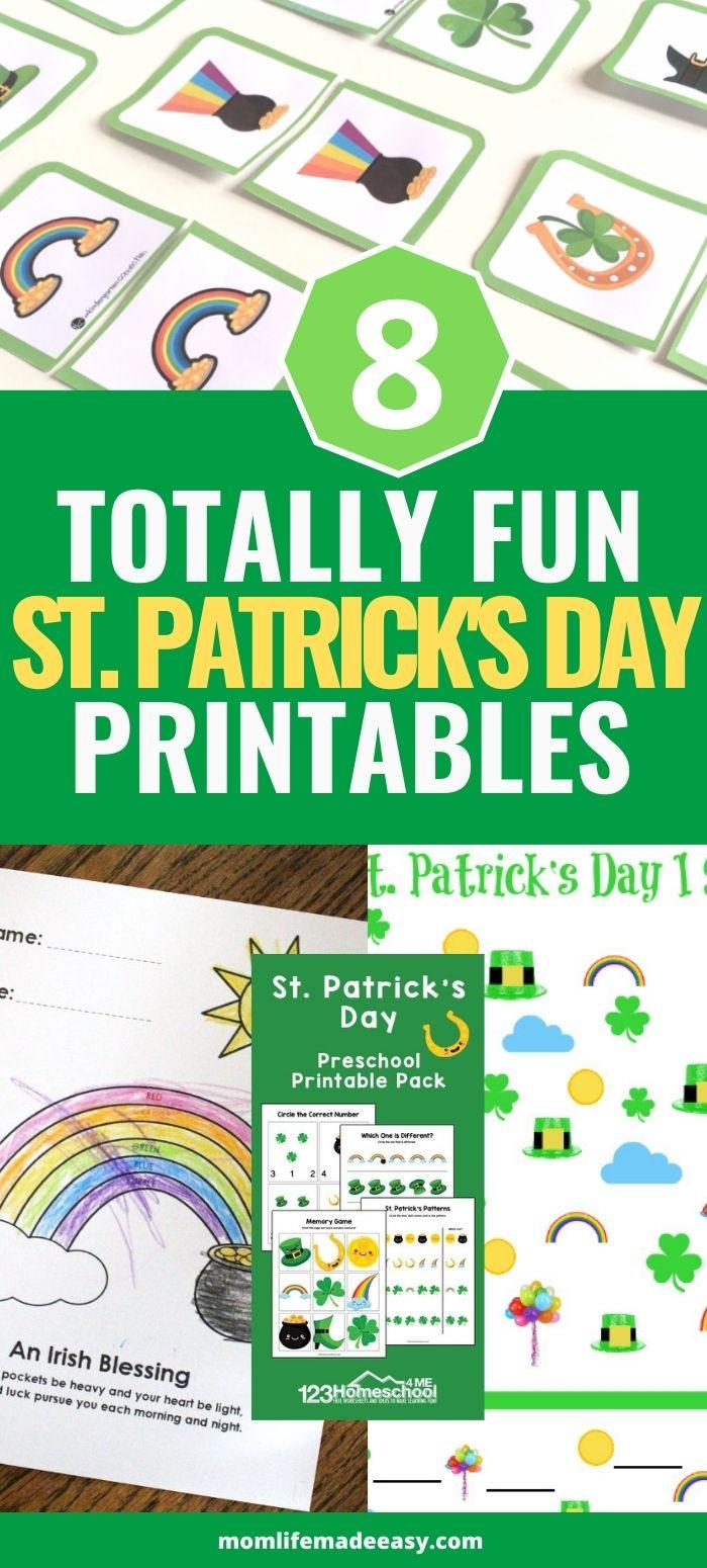 St. Patrick's Day Printables Promo Image For Pinterest