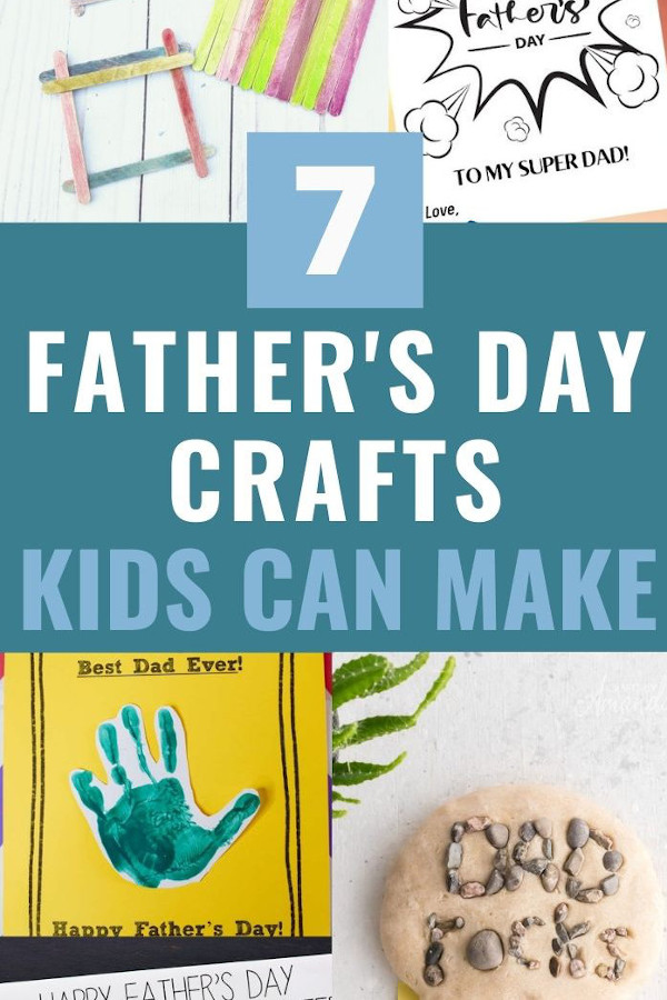 collage for DIY fathers day cards and crafts promo image