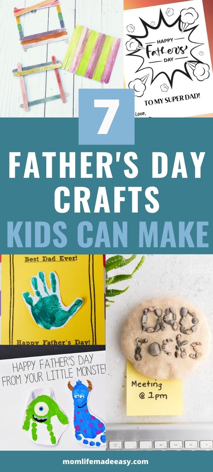 DIY fathers day cards and crafts promo image