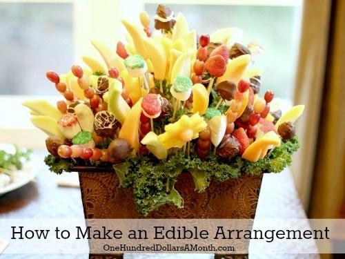 DIY edible arrangement Mother's Day gift idea