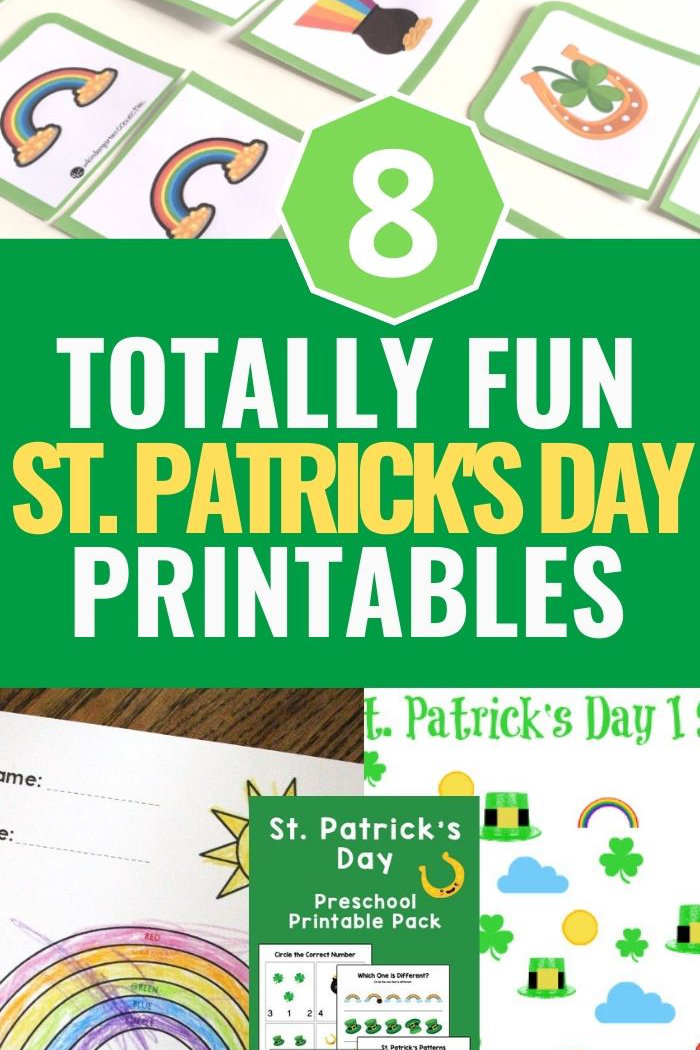 st Patrick's day printables arranged together in one image collage