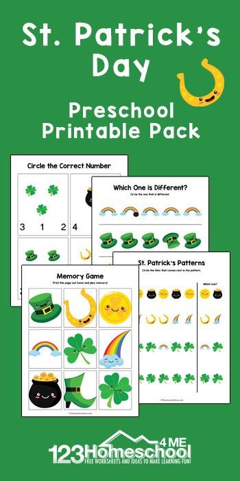 St Patrick's Day Printable Pack Promo Image