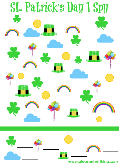 St Patrick's Day I-Spy sample size promo image