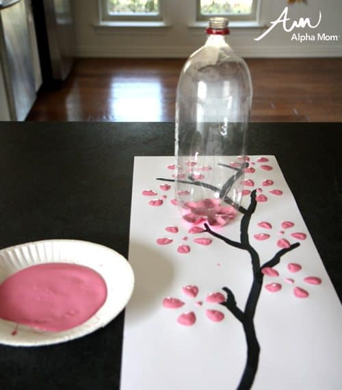 super beautiful cherry blossom art from alpha mom