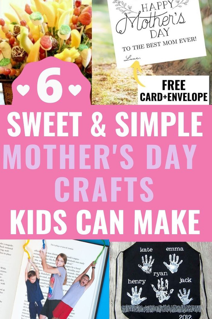 Mother's Day craft ideas collage promo image