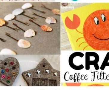 11 beach crafts for kids promo image collage