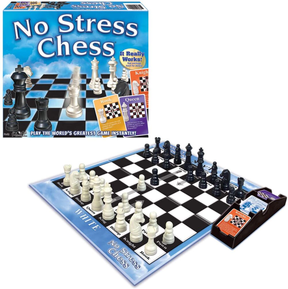 a chess game set up and ready to play!