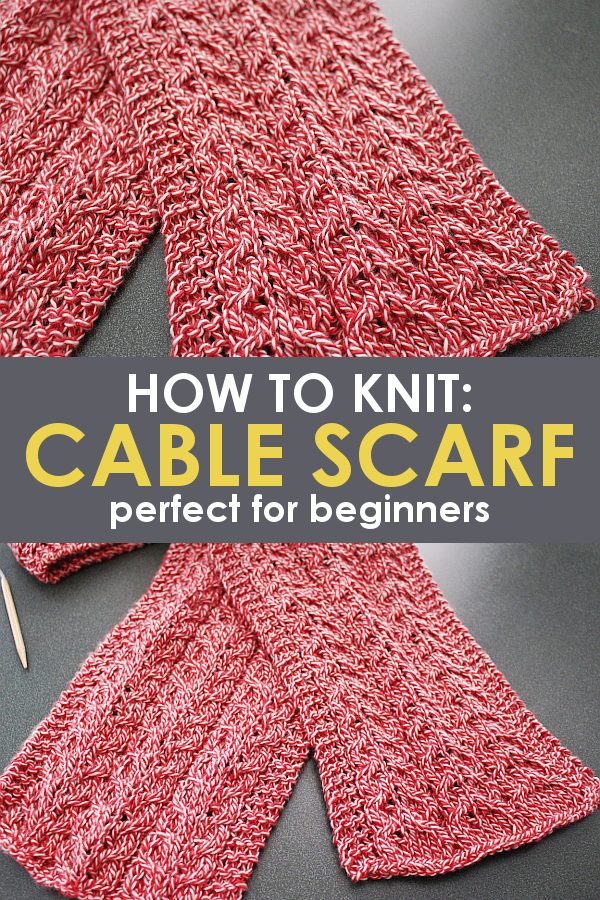 knitting a scarf for beginners promo image