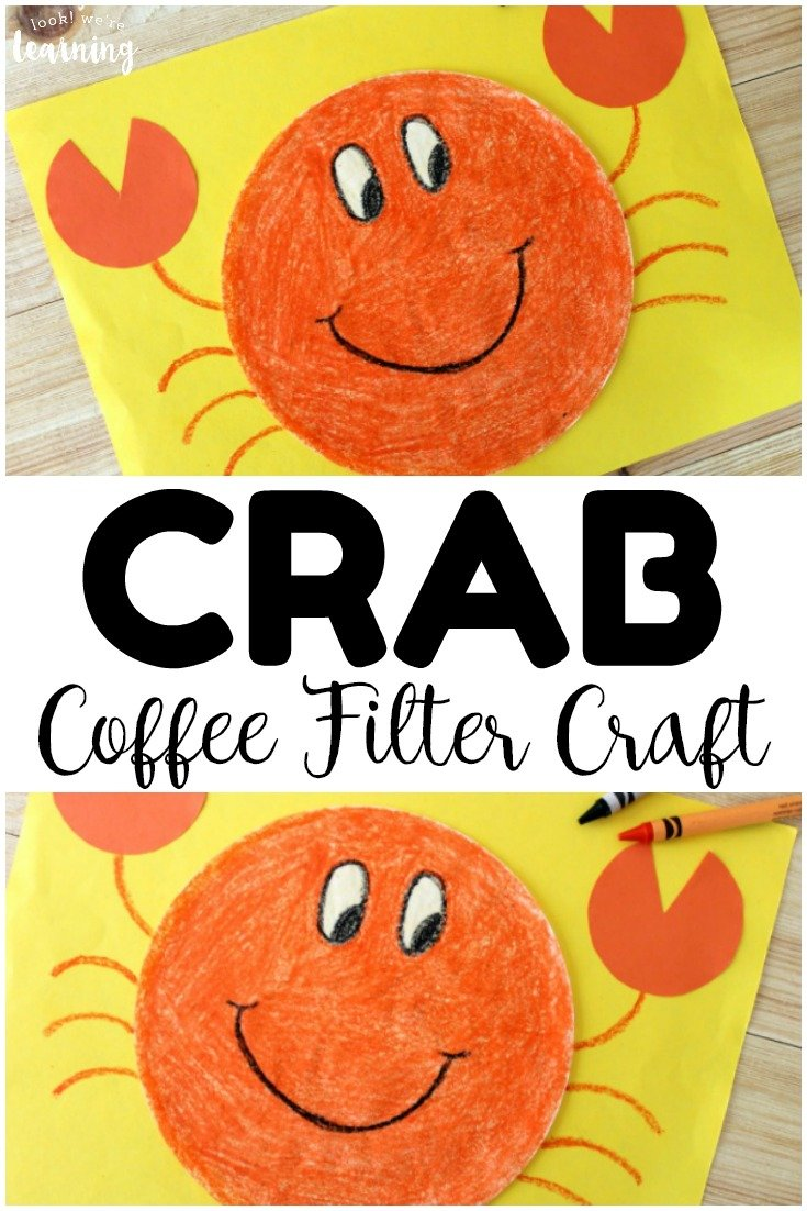 crab coffee filter beach craft promo image