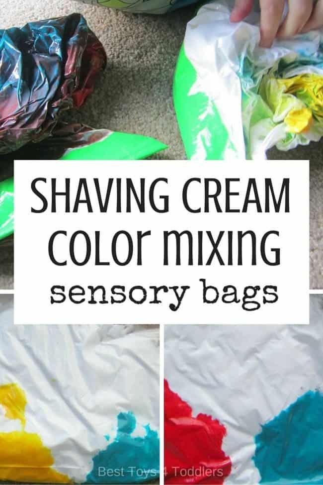 shaving cream sensory bags for toddlers
