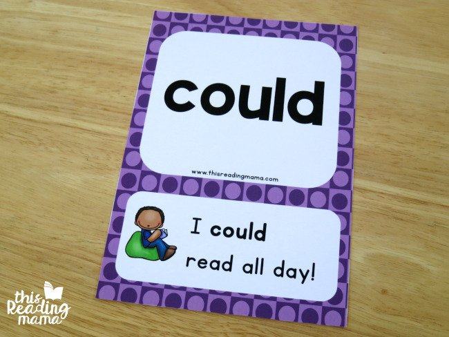 """a sight words sentence card featuring the sight word """"could"""""""
